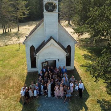 Tina&John  Victorian Valley Chapel, Orcas Island